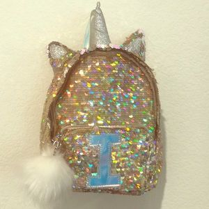 Girls Justice Gold Sequin Mini Back Pack